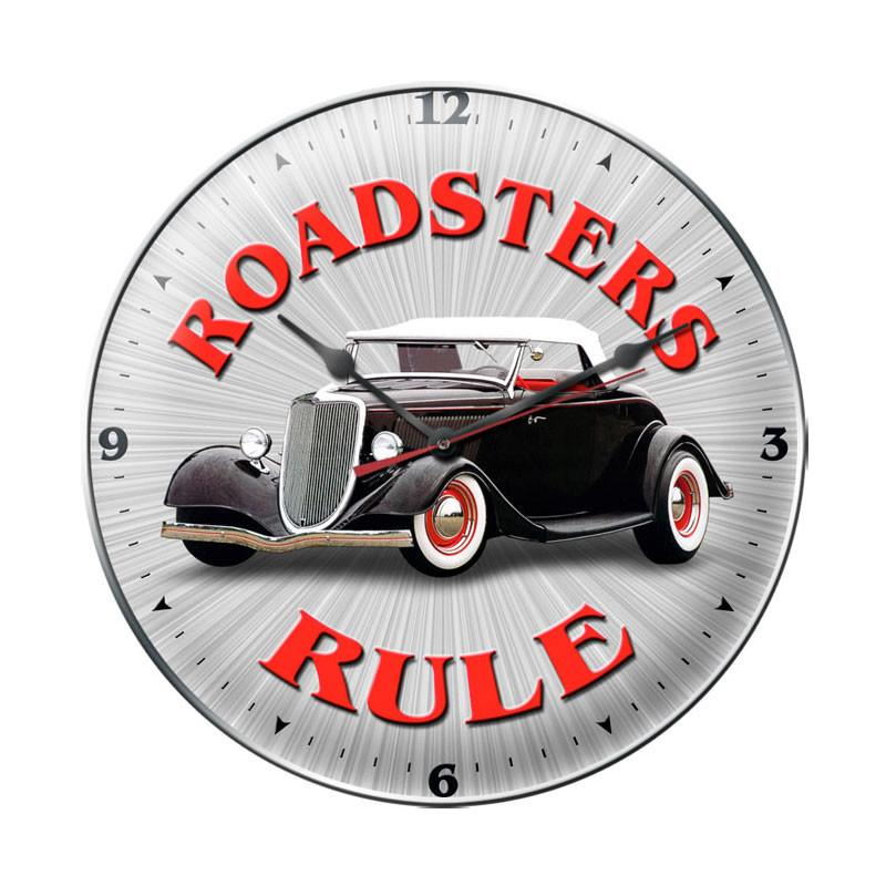 Roadsters Rule Clock - Man Cave Ideas