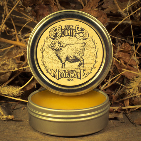 Olde Country Moustache Wax (1 oz tin) - Man Cave Ideas