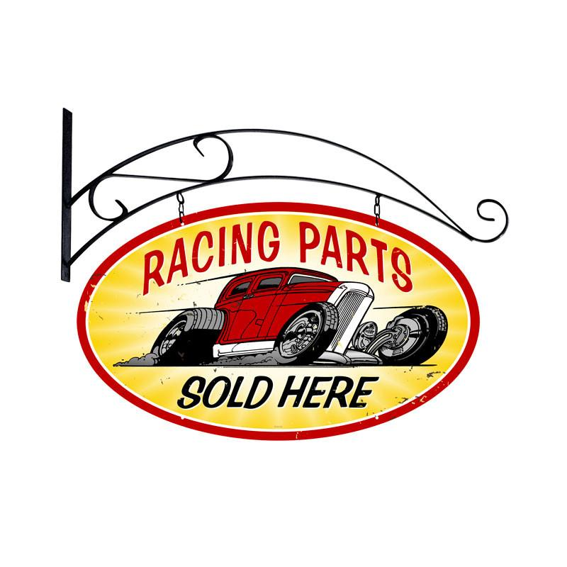 Racing Parts Metal Sign - Man Cave Ideas