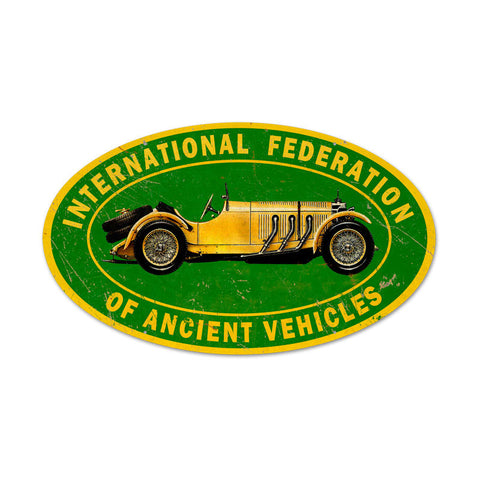 Ancient Vehicle Metal Sign - Man Cave Ideas