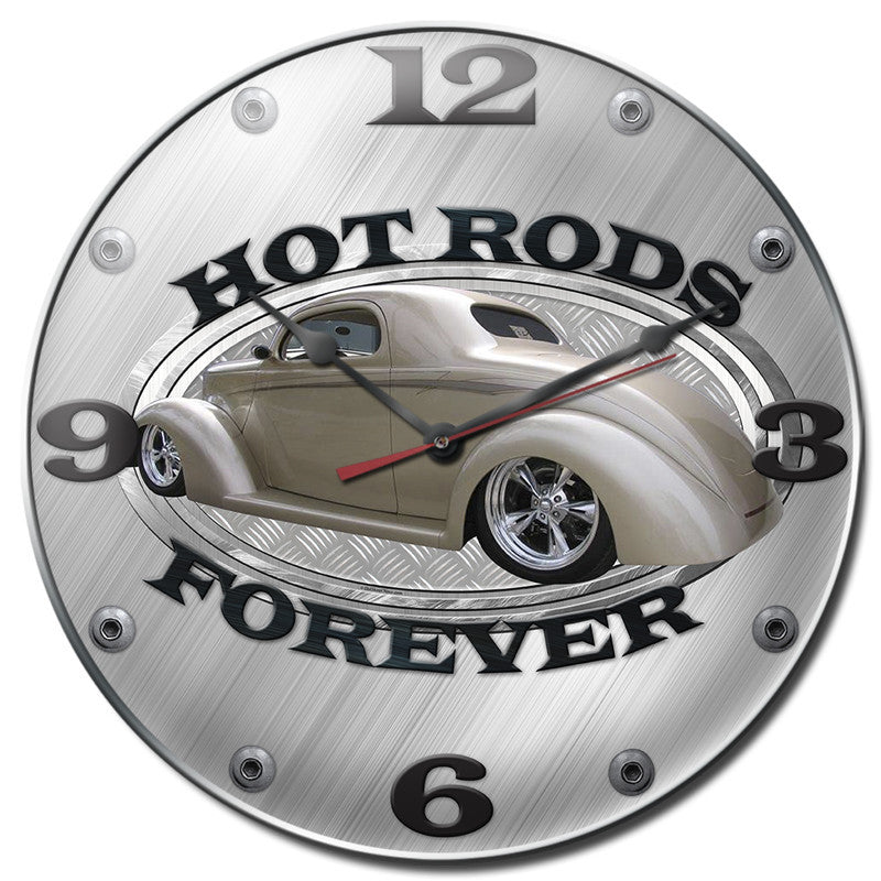 Hot Rod Bubble Clock - Man Cave Ideas