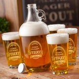Personalized Brewery Growler Set with design - Man Cave Ideas  - 2