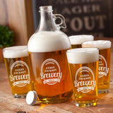 Personalized Brewery Growler Set with design - Man Cave Ideas  - 3
