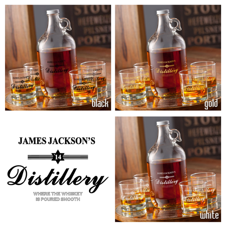 Personalized Distillery Growler Set - Man Cave Ideas  - 2