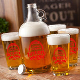 Personalized Brewery Growler Set with design - Man Cave Ideas  - 4