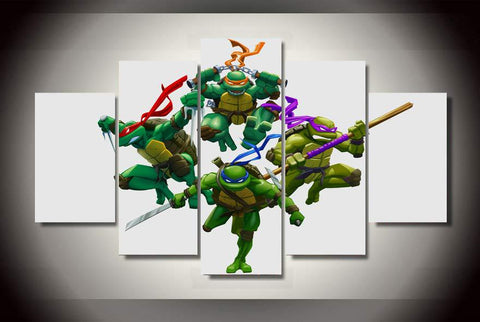 Canvas print featuring The Teenage Mutant Ninja Turtles, 5 panels