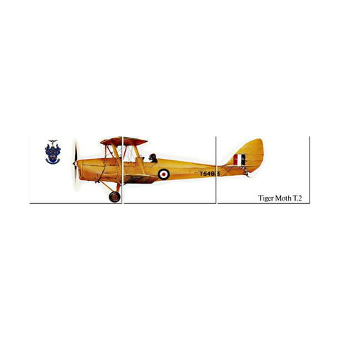 Tiger Moth Triptych - Man Cave Ideas