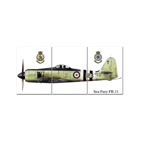 Sea Fury Triptych - Man Cave Ideas