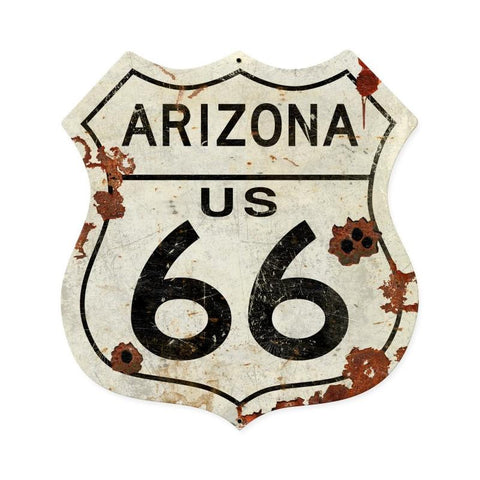 Arizona US 66 Metal Sign - Man Cave Ideas