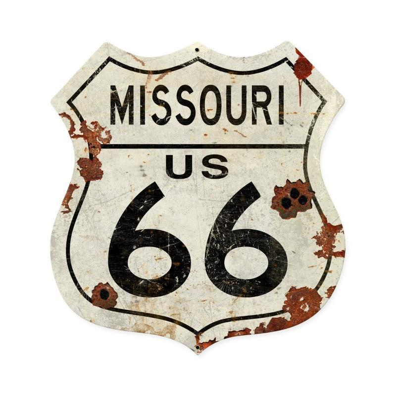 Missouri US 66 Metal Sign - Man Cave Ideas