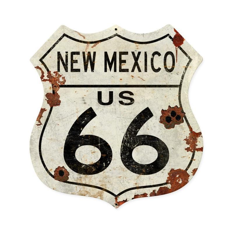 New Mexico US 66 Metal Sign - Man Cave Ideas