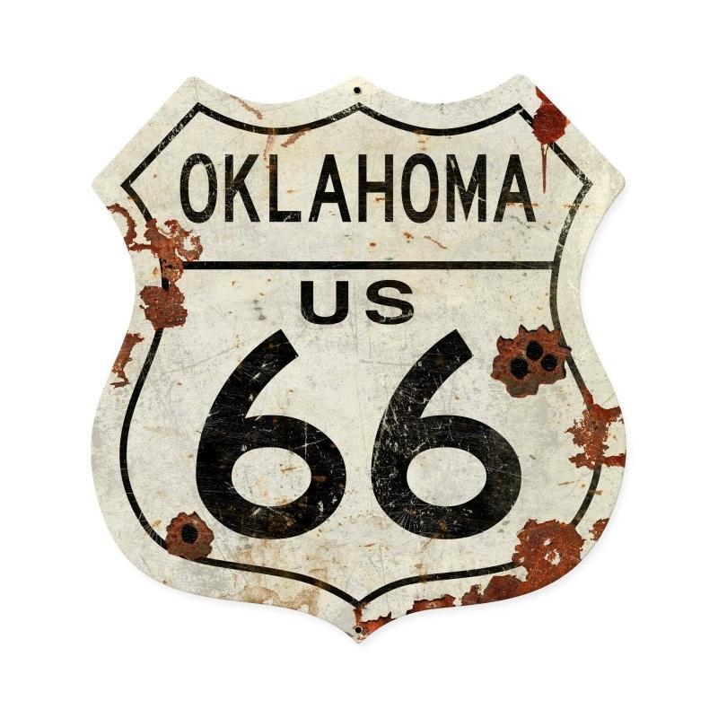 Oklahoma US 66 Metal Sign - Man Cave Ideas
