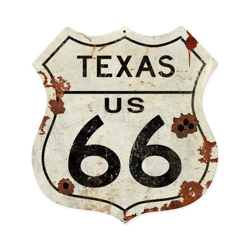 Texas US 66 Metal Sign - Man Cave Ideas