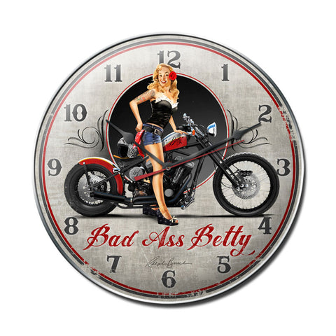 Bad Ass Betty Clock - Man Cave Ideas
