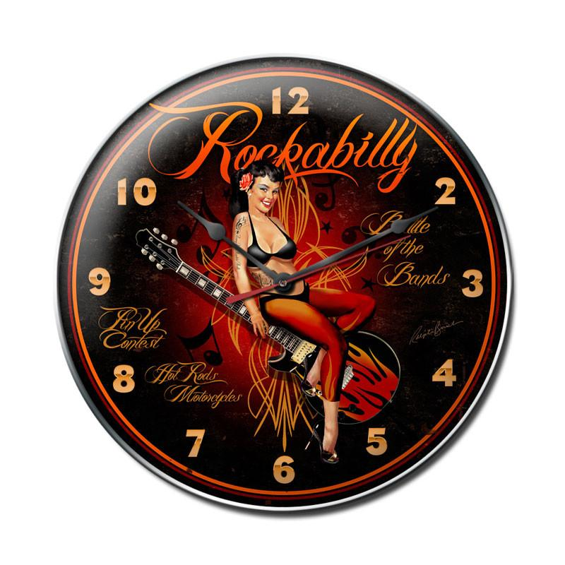 Rockabilly Clock - Man Cave Ideas