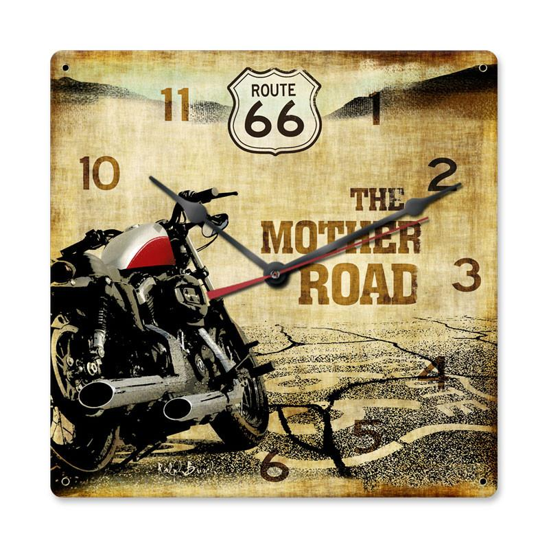 Route 66 Motorcycle Clock - Man Cave Ideas