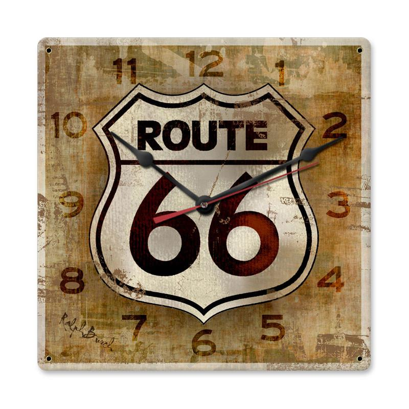 Route 66 Clock - Man Cave Ideas