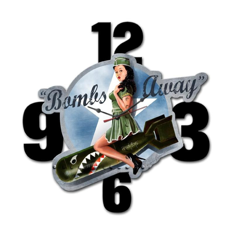 Bombs Away Clock - Man Cave Ideas