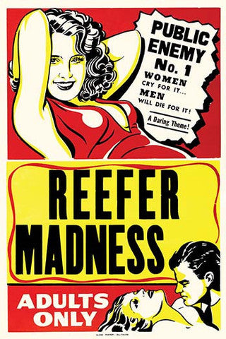 'Reefer Madness' Cult Classic Film vintage print - Man Cave Ideas