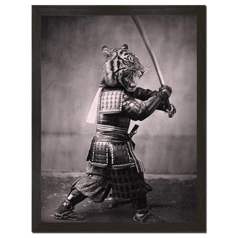 Samurai Tiger Art Print - Man Cave Ideas - 1