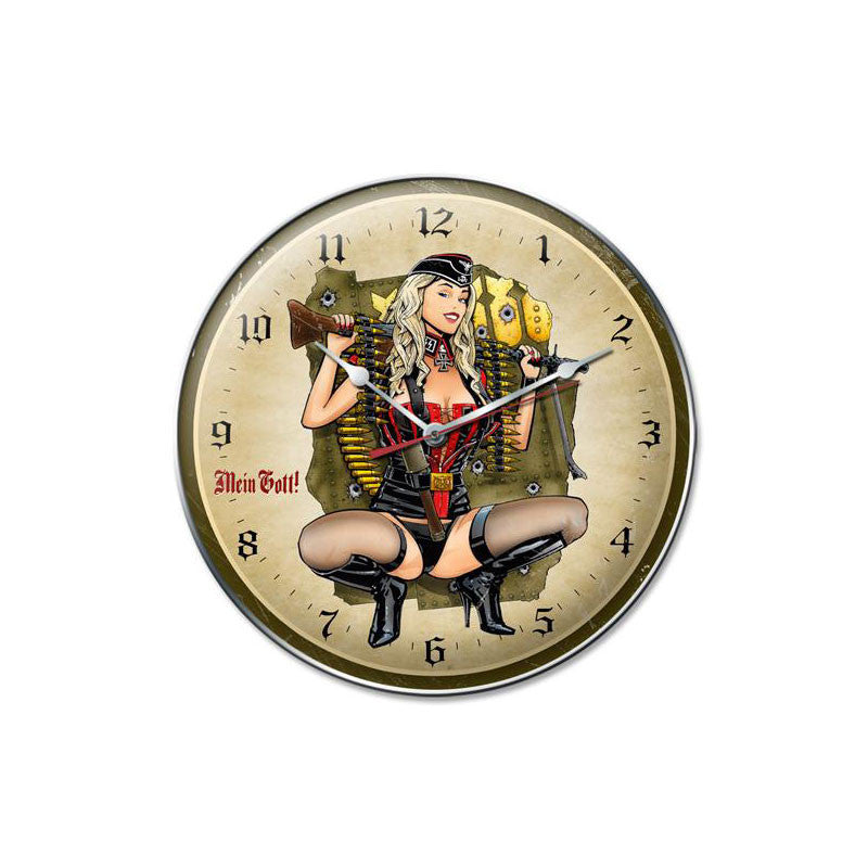 Gunner Girl Clock - Man Cave Ideas