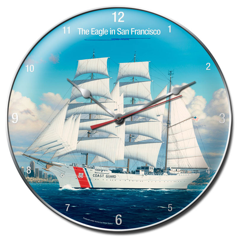 Coast Guard Clock - Man Cave Ideas