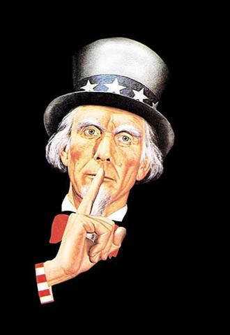 World War 2 Uncle Sam 'Silence' vintage print - Man Cave Ideas
