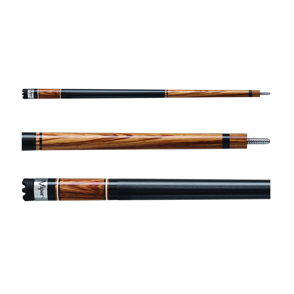 Viper Naturals Zebrawood Pool Cue - Man Cave Ideas  - 1