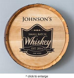 Personalized Whiskey Barrel Signs - Man Cave Ideas  - 5