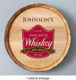 Personalized Whiskey Barrel Signs - Man Cave Ideas  - 6