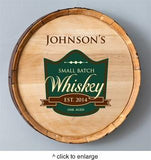 Personalized Whiskey Barrel Signs - Man Cave Ideas  - 7