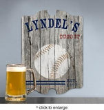 Personalized Vintage Sports Man Cave Pub Sign - Man Cave Ideas  - 1