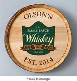 Personalized Whiskey Barrel Signs - Man Cave Ideas  - 3