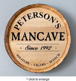 Personalized Whiskey Barrel Signs - Man Cave Ideas  - 4