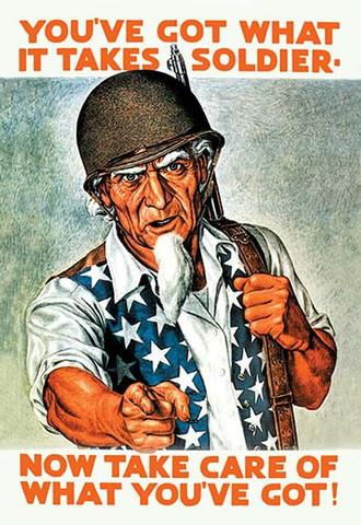 WW 2 Uncle Sam 'You've Got What it Takes' vintage print - Man Cave Ideas