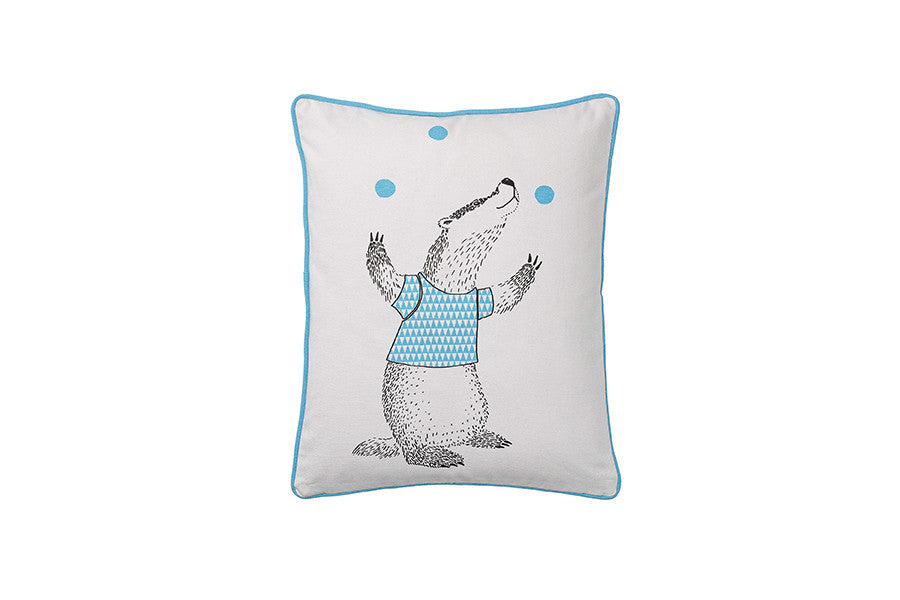 Mini Cushion w Badger