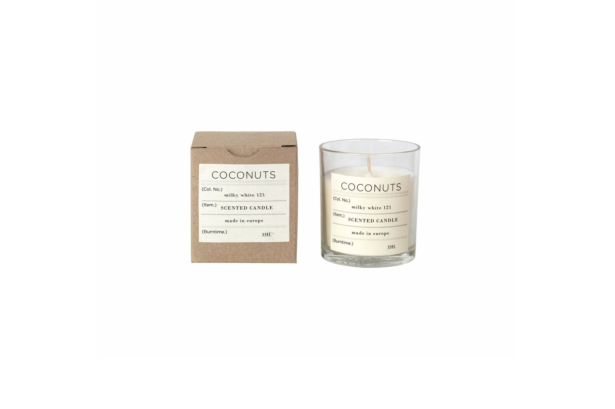 Nature Scented Candle Coconuts