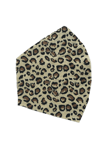 Leopard Print on tan -  Two Layer Face Mask