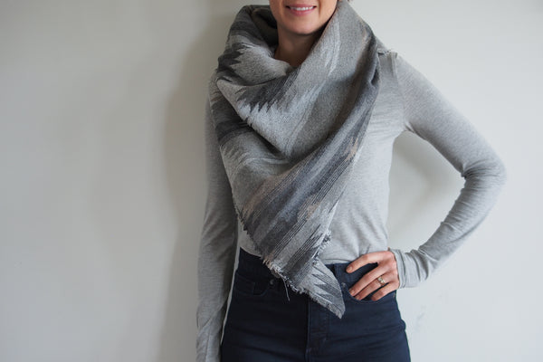Light Grey Neutrals  Triangle Scarf