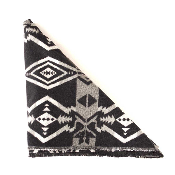 Black, White and Grey Aztec Triangle