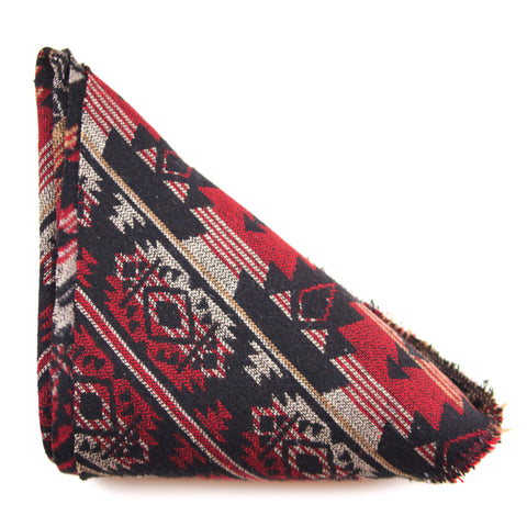 Red & Black Aztec Triangle Scarf