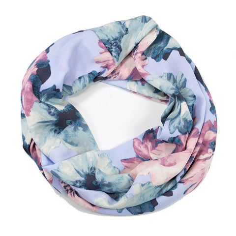 Blue and Pink Floral Infinity