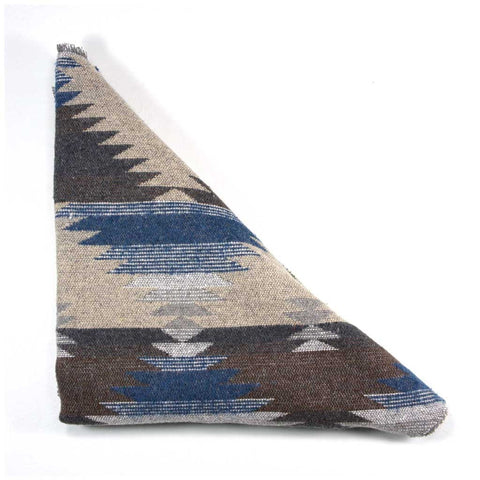 Blue Grey Cream Southwest Triangle Scarf