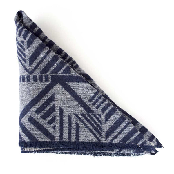 Navy and Grey Abstract Triangle