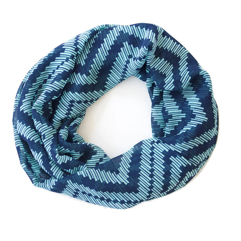Blue on Blue Chevron Lightweight Infinity
