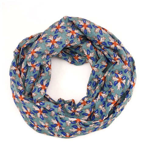 Blue and Orange Boho Snowflake Infinity