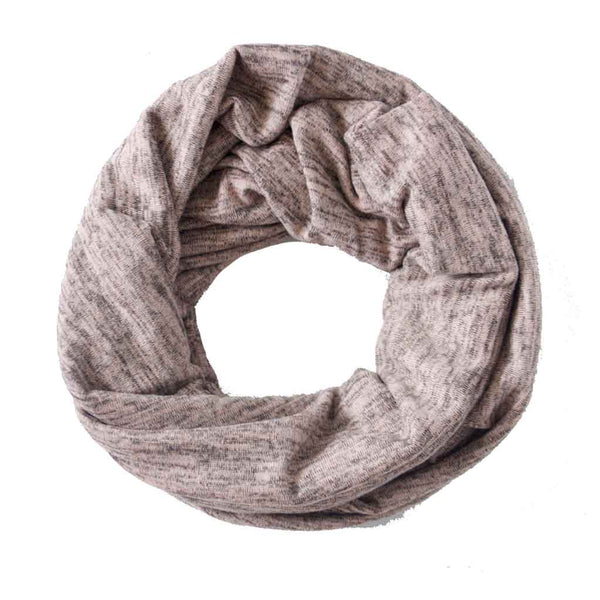 Blush Heathered Sweater Knit Infinity Scarf