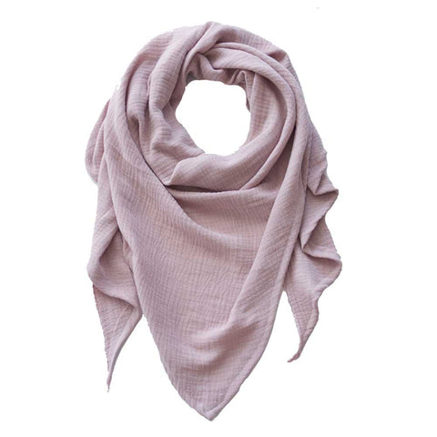 Blush Double Gauze Triangle Scarf