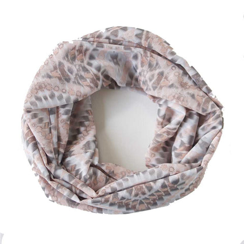 Blush and Grey Abstract Lightweight Infinity