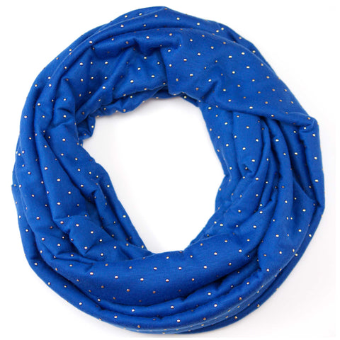 Jewelled Vibrant Blue Jersey Scarf